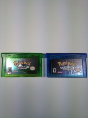 Pokemon Emerald and Sapphire Versions for Sale in Toledo, OH