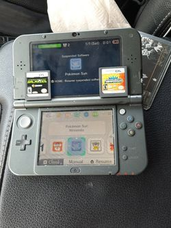 Nintendo 3ds XL with Downloaded Pokemon Sun And Pokemon Yellow for Sale in Tacoma,  WA