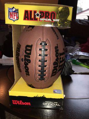 NFL Wilson official size football! for Sale in Pekin, IL
