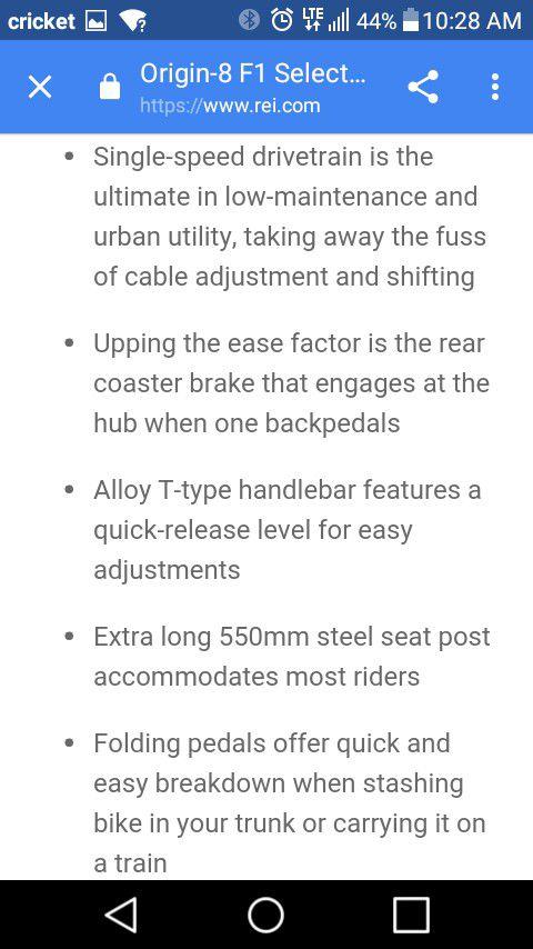 BMX ORIGIN 8 F1 FOLDING BIKE