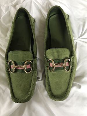 Women's Green and Pink Gucci Driving Loafers for Sale in Denver, CO