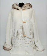 Nuage faux fur winter cream edition coat for Sale in Sciotoville, OH