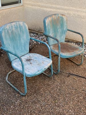 Antique metal land chairs pair for Sale in Tucson, AZ