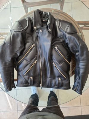Leather motorcycle jacket for Sale in Las Vegas, NV
