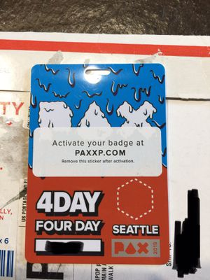 2019 Pax West 4 Day badge pass for Sale in Seattle, WA