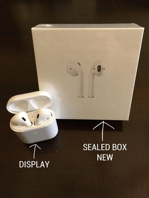 BLUETOOTH AIR PODS EARPHONES EARBUDS (BRAND NEW IN SEALED BOX) COMPATIBLE WITH APPLE iPHONE AND ANDROID for Sale in Lewisville, TX