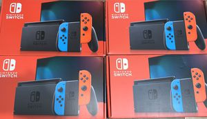 Nintendo Switch with Neon Blue and Neon Red Joy‑Con for Sale in Sanger, CA