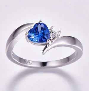 Heart Cut Tanzanite Gemstone 925 Sterling Silver Ring for Sale in Wichita, KS