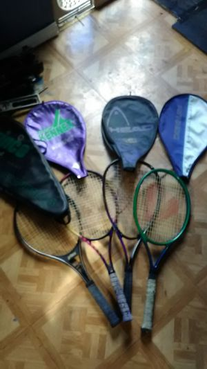 4 tennis rackets for $10 each for Sale in Fort Pierce, FL