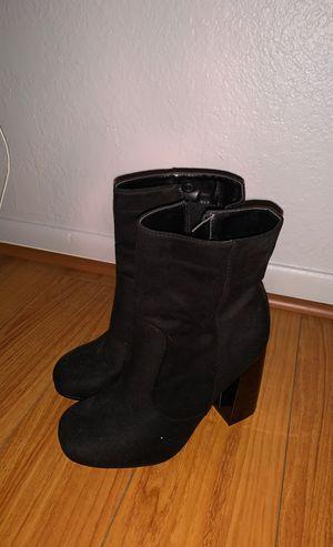Black boot heels for Sale in Cerritos, CA