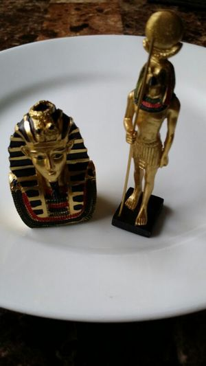 Pharaoh Figure 2 Golden Egyptian Decorative Statue New for Sale in Richardson, TX