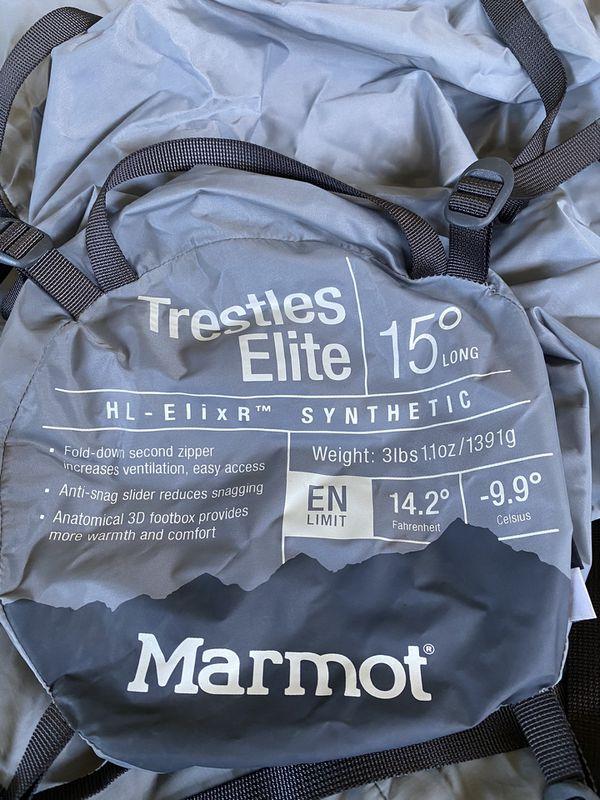 Marmot Trestles Elite 15 Sleeping Bag — Men's Long