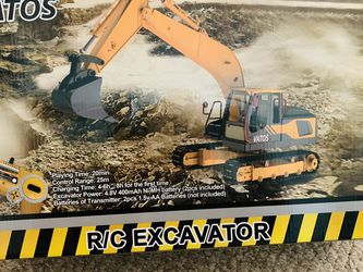 Barely used metal RC excavator toy!! for Sale in Fairfax Station,  VA