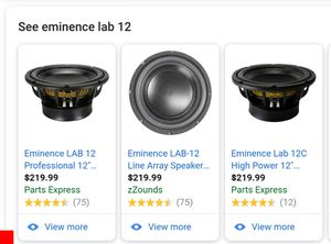 Eminence Lab12 Pro Audio Subwoofers for Sale in Newark, OH