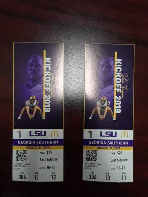 2 LSU season opener tickets for Sale in Alexandria, LA