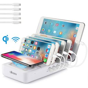 6-Port Multi USB Charging Station Stand Desktop Charger Dock For Cellphone Smartphone Tablet for Sale in York, PA