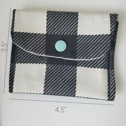 Small Snap Pouch, Black And White Plaid for Sale in Vancouver,  WA