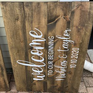 Wedding Welcome Signs for Sale in Elk Grove Village, IL