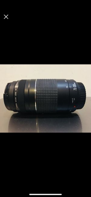 Canon Lens 75-300mm for Sale in Fairfax Station, VA