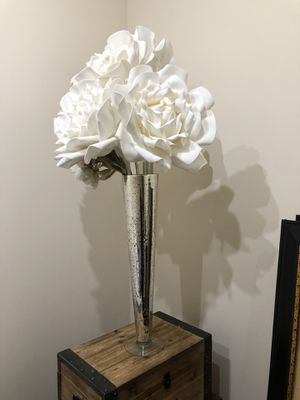 Zgallerie decorative flowers & vase for Sale in Austin, TX