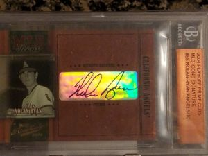 Numered to only 10 Nolan Ryan sharp and clean auto signed and encased for preservation DRV investment gold trout psa sgc bgs bvg cross for Sale in Anaheim, CA