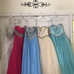 Quinceañera Dresses Quince $50 each, S-XL for Sale in Pembroke Pines, FL