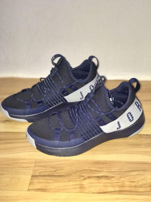 9cfcd5c9075 Air Jordan trainer pro re2pect Derek Jeter shoe blue gray size 11 ...