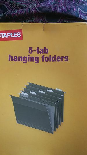 5 tab hanging folders....brand new box for Sale in Fort Wayne, IN