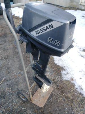 9.8 hp nissan outboard motor for Sale in Walpole, MA