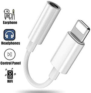 Headphone Adapter for iPhone 11 Adapter to 3.5mm Accessories Dongle Converter for iPhone X/XS max/8/8 Plus 7/7 Plus Headphone Connector Cable Aux for Sale in Burbank, CA