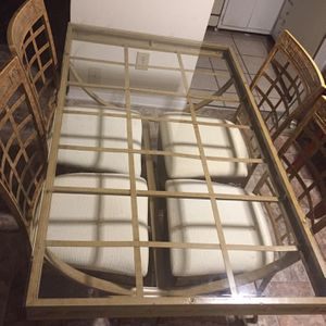 Metal Beveled Glass Kitchen Table! for Sale in Raleigh, NC