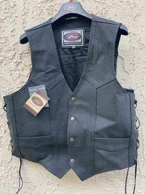 River Road Leather Motorcycle Riding Vest Brand New for Sale in Cypress, CA