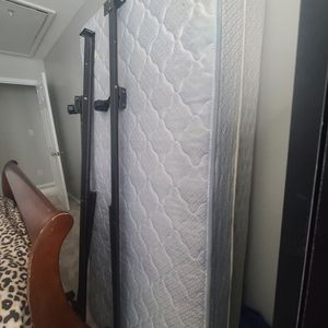Used Twin Bed, Box Spring And Rails for Sale in Raleigh, NC