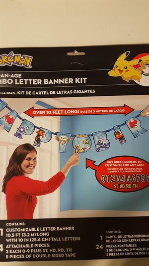 Pokemon birthday banner for Sale in Ontario, CA