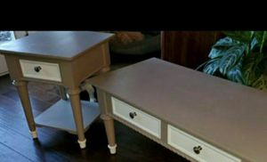 Shabby Chic Gray / White Coffee Table & Side Table for Sale in Simpsonville, SC