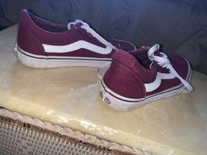 maroon vans size 4 for Sale in Omaha, NE