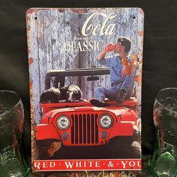Vintage Coca-Cola Metal Sign for Sale in San Jose,  CA