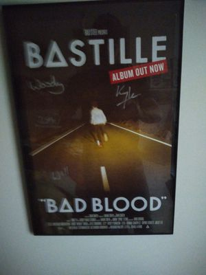 Bastille poster autographed poster for Sale in Lincoln, NE