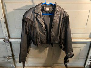 Leather Ladies Motorcycle Jacket for Sale in Glendale, AZ