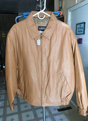Kasper leather waist length jacket for Sale in Detroit, MI