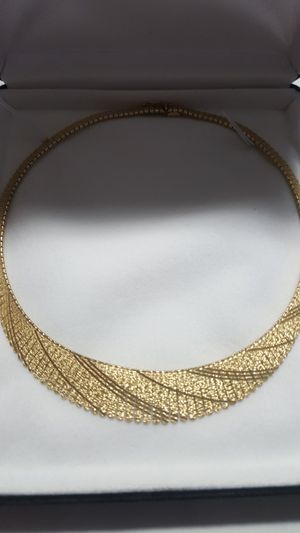 SAVE $3,500!! BRAND NEW DESIGNER ONE OF A KIND 14KT SOLID GOLD NECKLACE WITH CERTIFIED APPRAISAL (SEE PIC # 2 FOR SPECS) 32.9 GRAMS!!! for Sale in Providence, RI