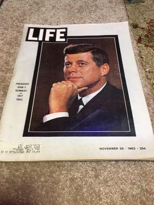 Vintage 1963 life magazine- John f Kennedy for Sale in Davenport, IA