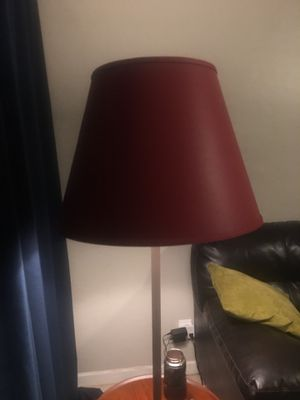 Red faux leather lamp shade for Sale in Phoenix, AZ