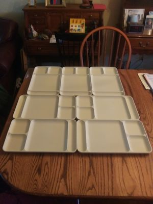 Group of 7 Vintage Tupperware Cafeteria Style Divided Trays - $10.00 for all for Sale in St. Louis, MO