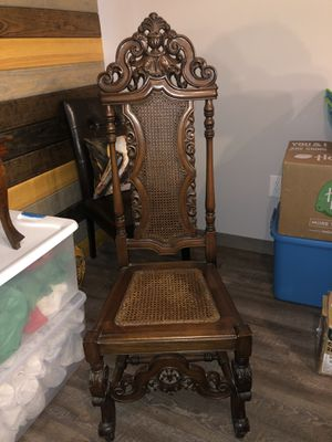 1924 Mahogany Hall Chair for Sale in West Monroe, LA