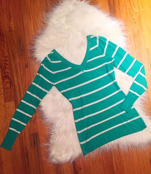 Mint green stripped sweater (S-L available) for Sale in Denver, CO