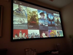 Silver Ticket 110inch projection screen for Sale in Orlando, FL