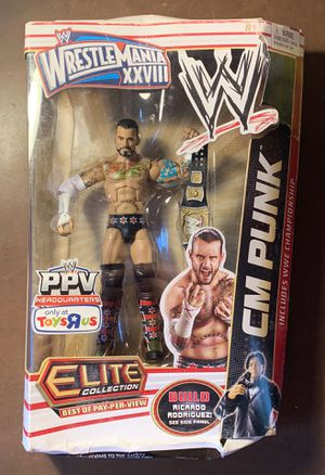 CM Punk WWE series Elite. TRU exclusive. Wrestlemania for Sale in Ridley Park, PA