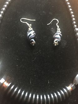 Stunning Sterling Silver Hermatite Necklace With Matching Earrings for Sale in Farmington,  NH
