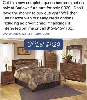Brand new complete bedroom set on sale low low price!! for Sale in Pontiac, IL